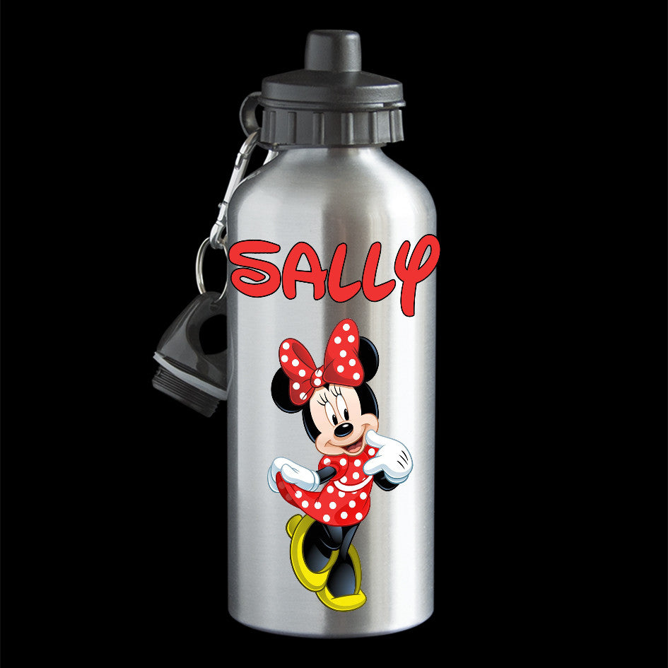 Personalised Minnie Mouse Disney movie Water Bottle, drink bottle