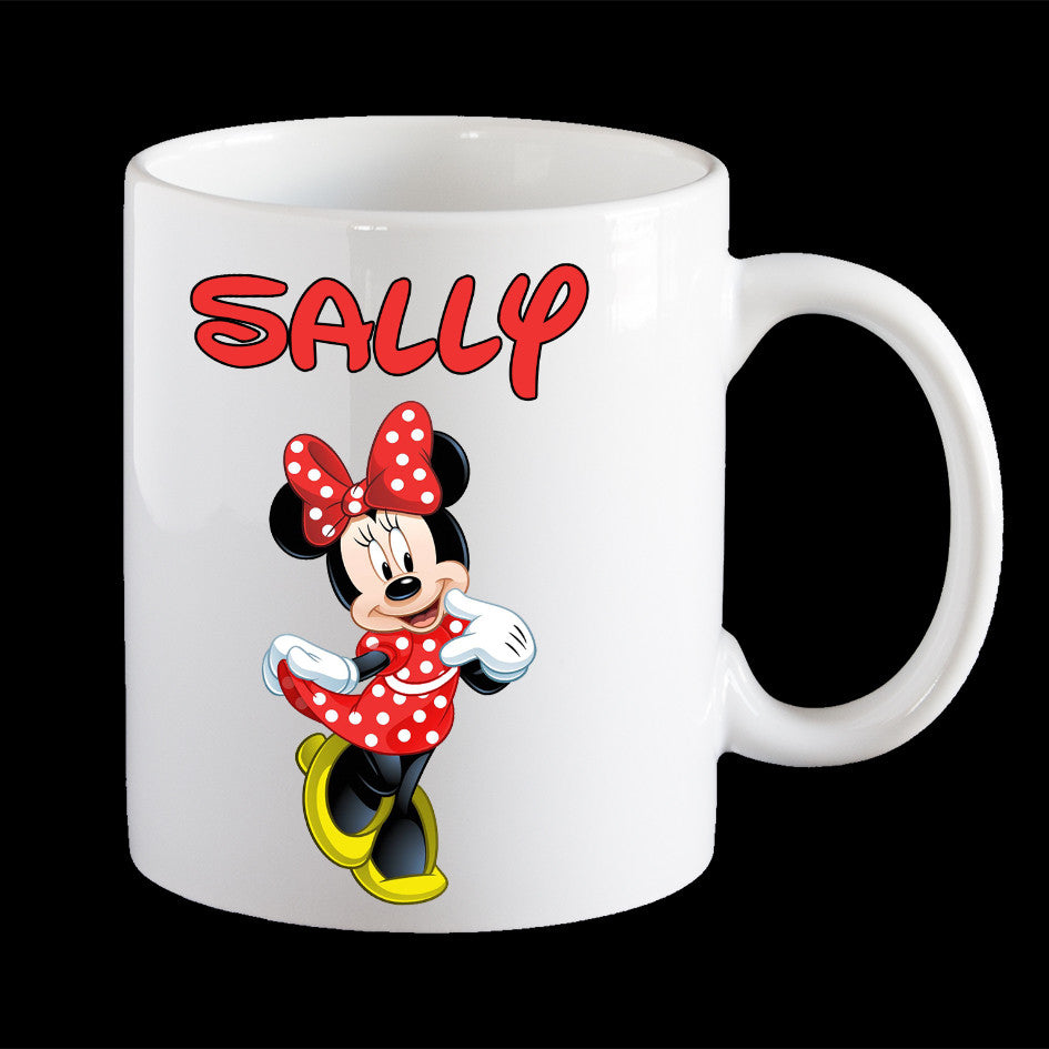 Personalised kids melamine Minnie Mouse mug