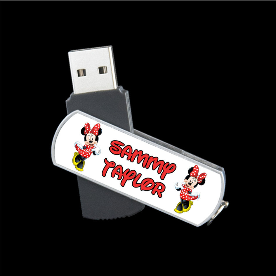 Personalised Minnie Mouse USB memory stick 8GB