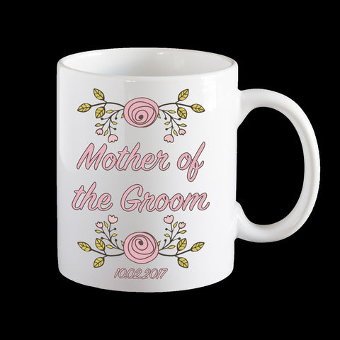 Mother of the Groom Personalised Mug, Wedding mug