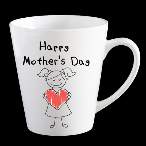Cute Mother's Day mug from a girl, Personalised Mother's Day Coffee Mug, Mum Mug, Mother's Day gift idea