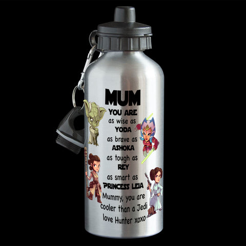 Personalised Mother's Day Star Wars Water Bottle, Mum drink bottle