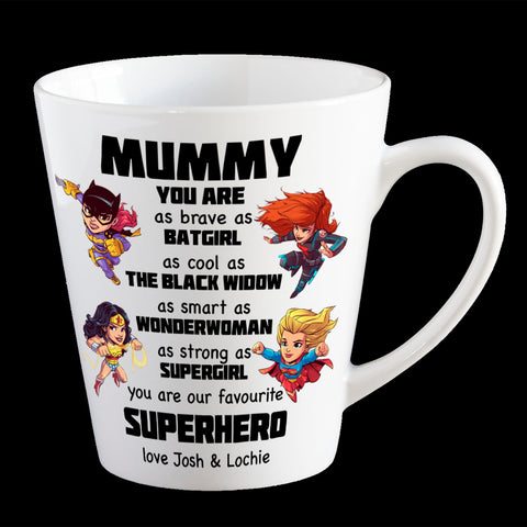 Mum Superhero Personalised Mother's Day mug, Funny Mother's day Coffee Mug, Wonder woman