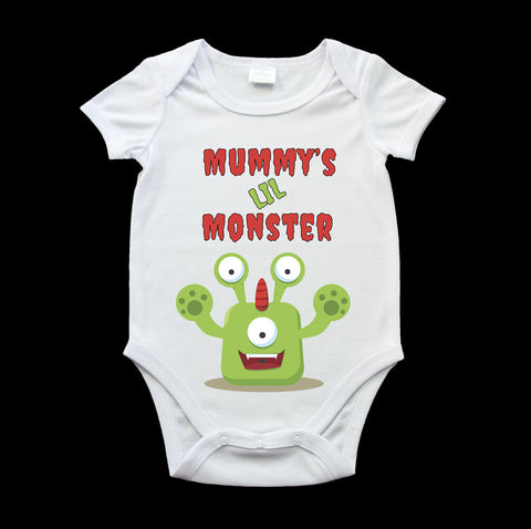 Mummy's lil monster baby onesie