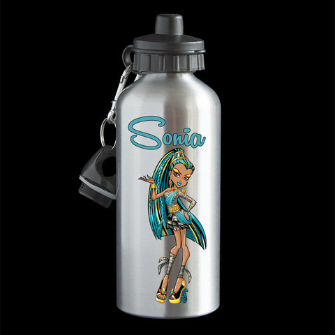 Personalised Nefera de Nile Water Bottle, Monster High Nefera de Nile Drink Bottle