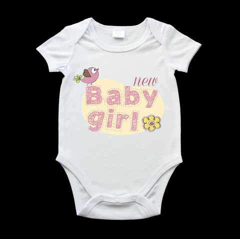 New baby girl cute baby onesie, birth gift, new baby gift