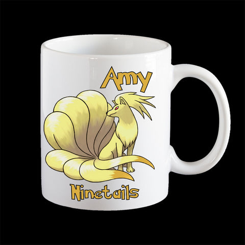 Personalised Ninetails Pokemon Mug, Ninetails Pokemon Go mug
