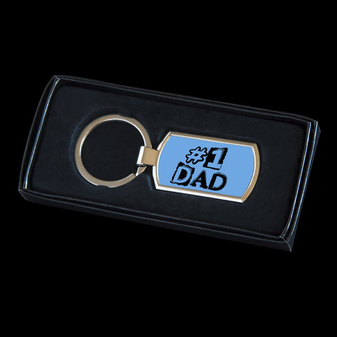 Father's Day Keyring, No 1 Dad key ring, #1 Dad Father's Day gift