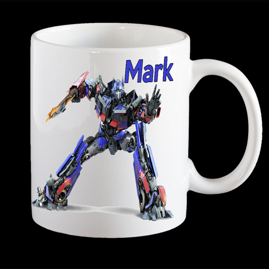 Personalised Optimus Prime Transformers mug