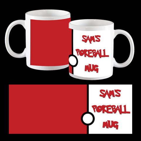 Personalised Pokeball Mug