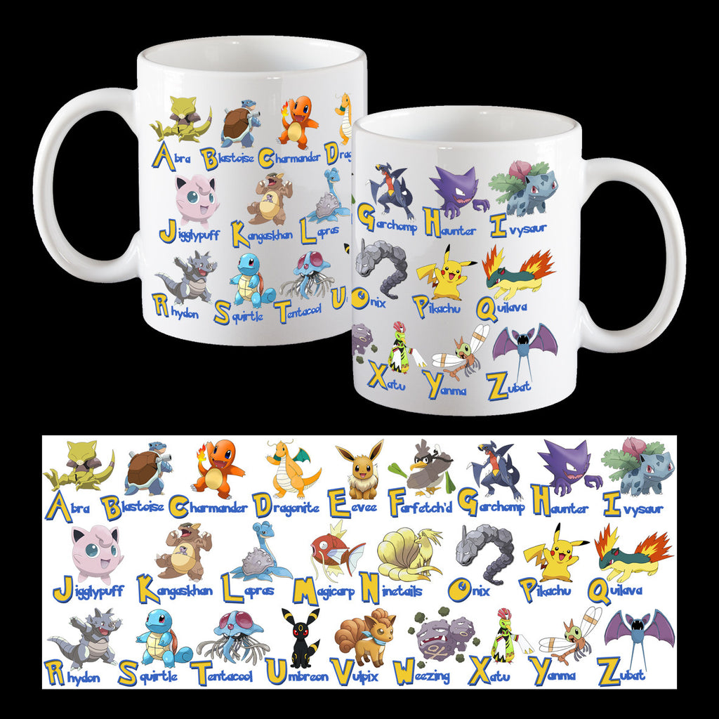 Pokemon alphabet mug