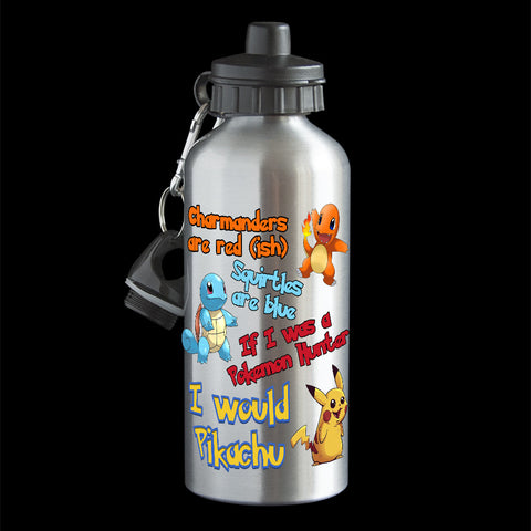 Personalised Funny Valentines Day Pokemon Water bottle, unique funny Valentines day gift