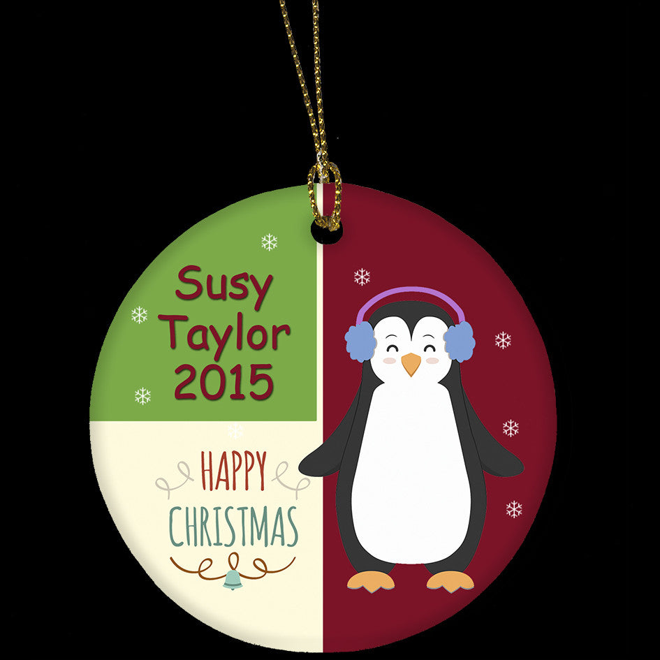 personalised christmas ornament, ceramic christmas ornament