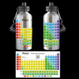 Personalised Periodic table of elements water bottle