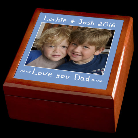 Personalised Jewellery Box, Photo jewellery box, Valentines Day gift