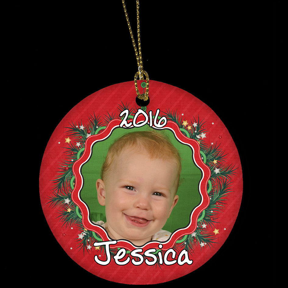 Personalised Photo ceramic Christmas Ornament