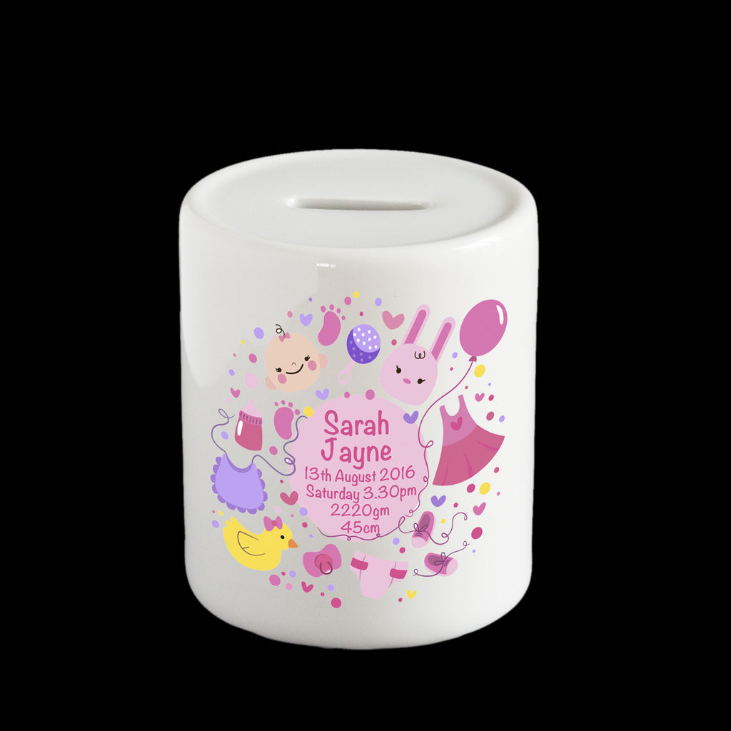 Personalised Girl's Piggy bank