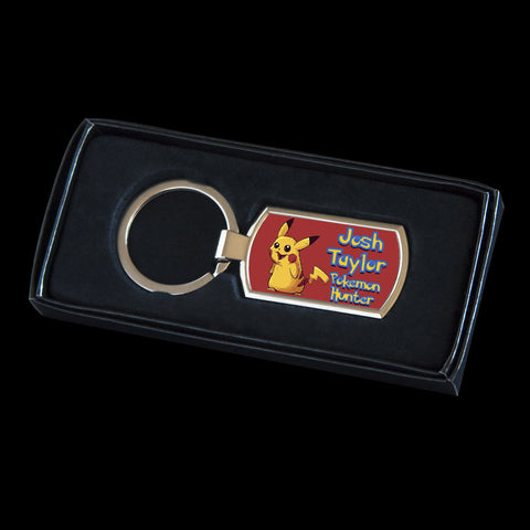 Personalised Pikachu Pokemon Keyring