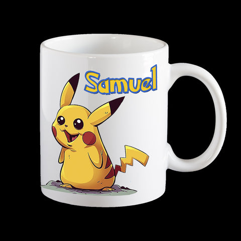 Personalised Pokemon Pikachu Coffee Mug