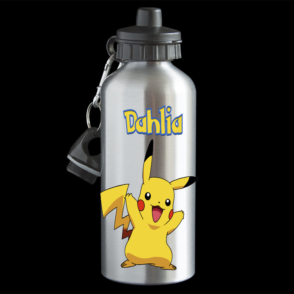 Personalised Pikachu pokemon water bottle