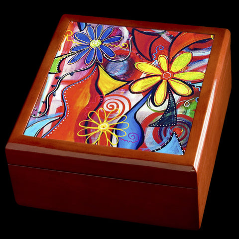 Pretty flowers on Jewelry box