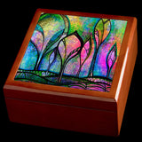 wooden jewellery box, personalised art
