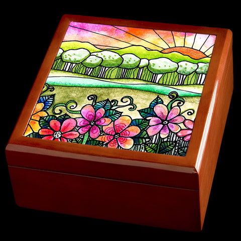 Beautiful art personalised jewellery box