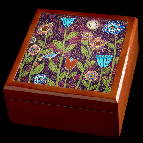 Personalised Jewellery Box, Moonlit Night Garden, Valentines Day gift