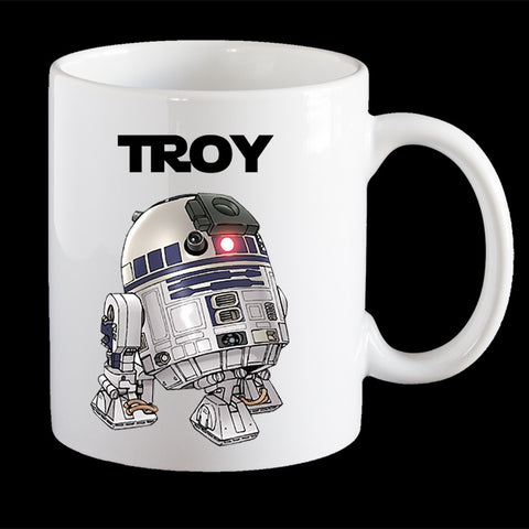 Personalised R2D2 Star Wars Coffee Mug, R2D2 Plastic Mug