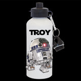 Personalised R2D2 Star Wars Water Bottle, R2D2 drink bottle
