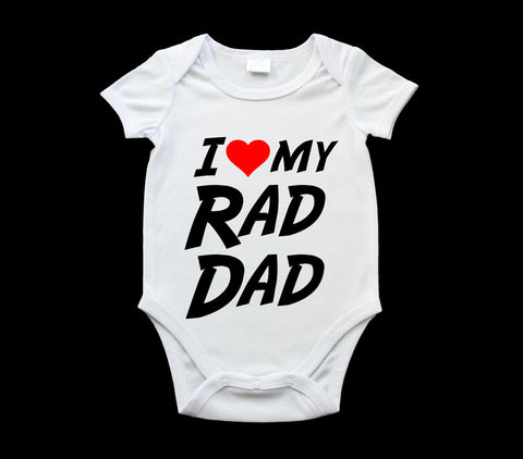 Funny Father's Day Rad Dad baby onsie, romper suit, Baby one piece, Father's Day