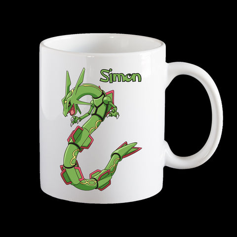 Personalised Pokemon Rayquaza Coffee Mug