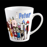 Personalised Regular Show Mug, Mordecai, Rigby and gang kids mug