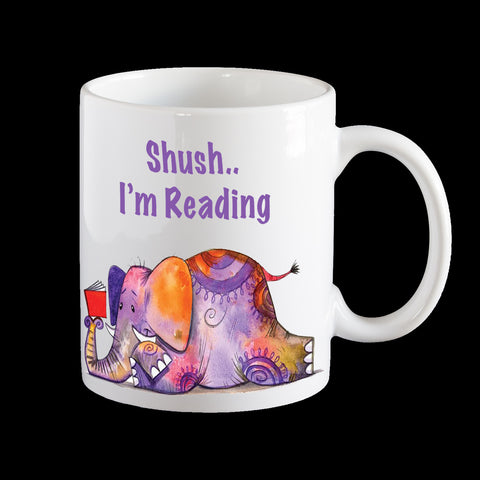 Shush I'm reading Personalised Coffee Mug