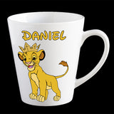 Personalised Simba Lion King Coffee Mug, Lion King kids plastic mug