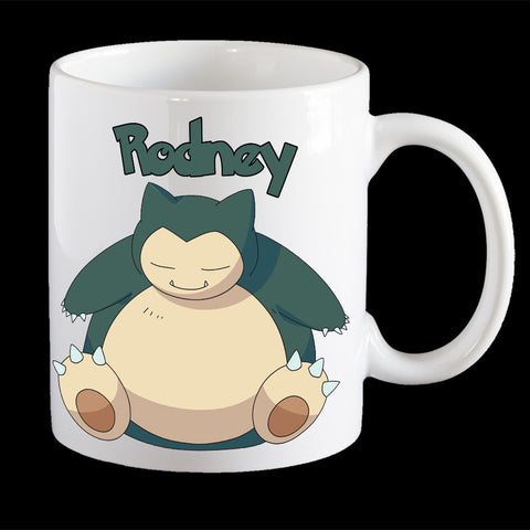 Personalised Pokemon Snorlax Coffee Mug