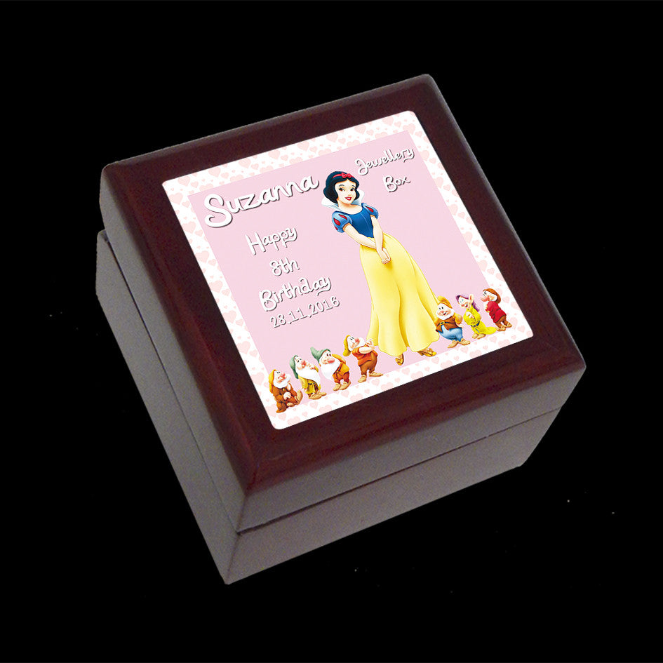 Small Jewellery Box, Snow White Disney Princess Personalised Jewellery Box
