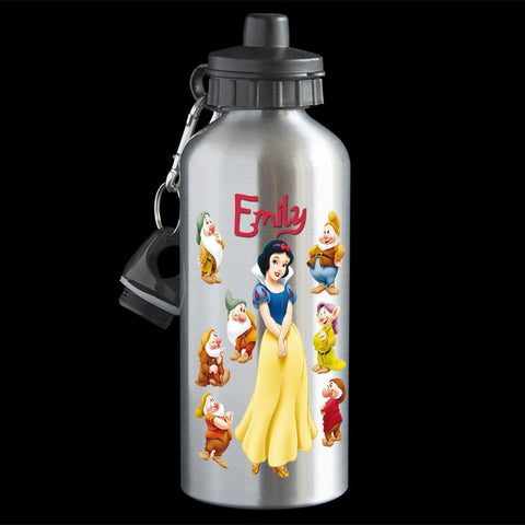 Personalised Snow White Water Bottle, Disney Princess Snow White Drink Bottle