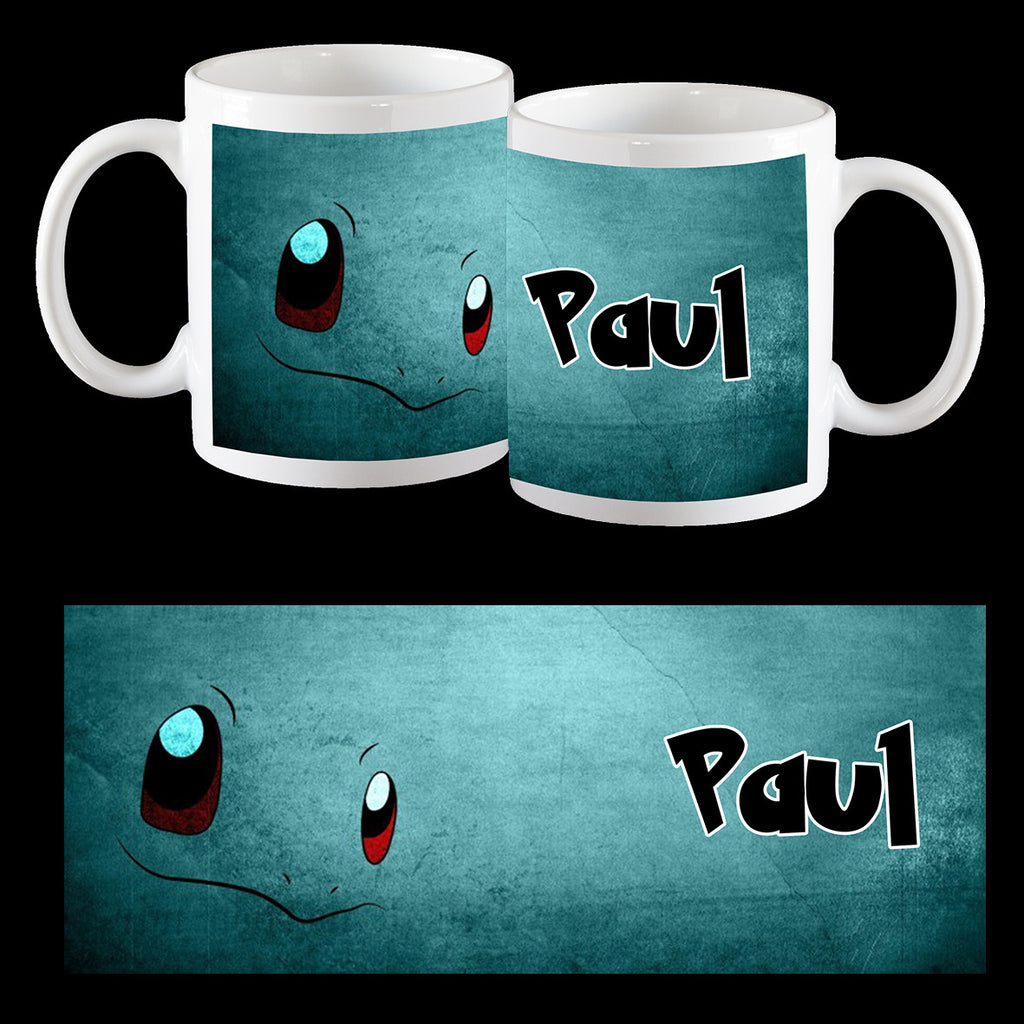 Squirtle Art, Pokemon Go Personalised Coffee Mug