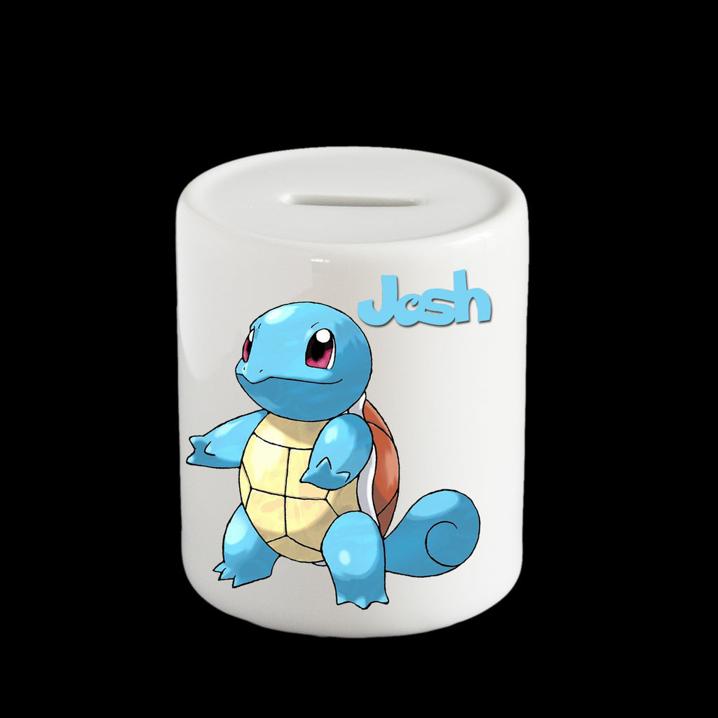 Personalised Squirtle Piggy bank