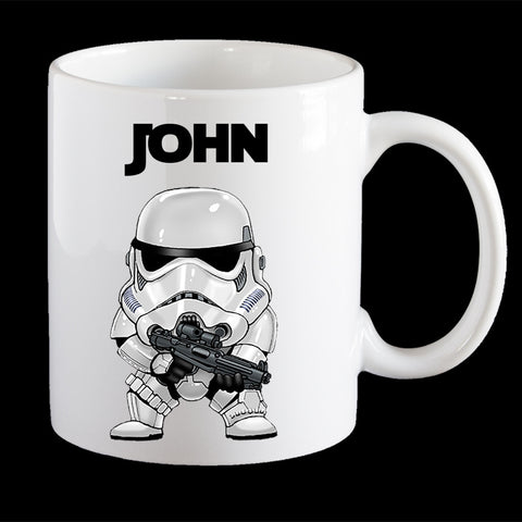 Personalised Storm Trooper Star Wars Coffee Mug, Storm Trooper Plastic Mug