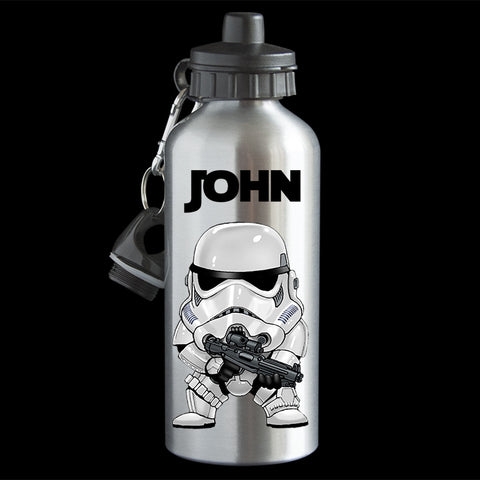 Personalised Storm Trooper Star Wars Water Bottle, Storm Trooper drink bottle