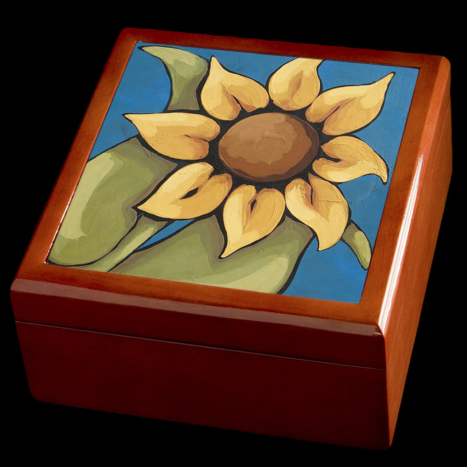 Sunflower jewellery box