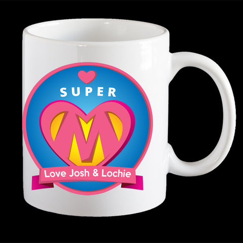 Personalised Super Mum Coffee Mug, Mother's Day gift