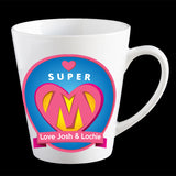 Personalised Super Mum Coffee Mug, Mother's Day Coffee Mug