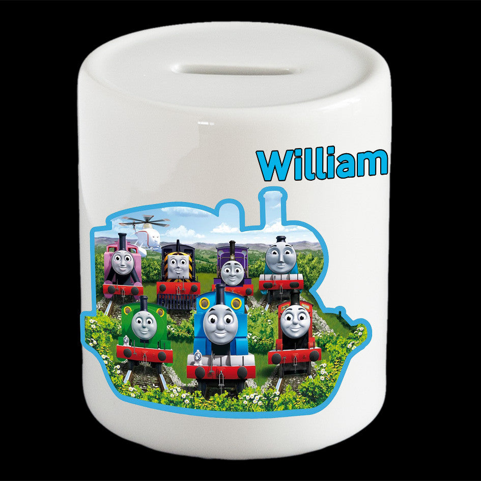 Personalised Thomas the Tank Engine and Friends Piggy bank