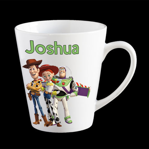 Personalised Toy Story Mug, Buzz, Woody and Jessie mug