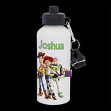 Personalised Toy Story Water Bottle, drink bottle Buzz, Jessie and Woody