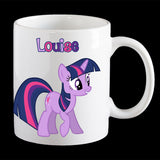 Personalised Twilight Sparkle coffee mug, Little Pony Twilight Sparkle kids plastic mug