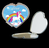 personalised unicorn mirror compact